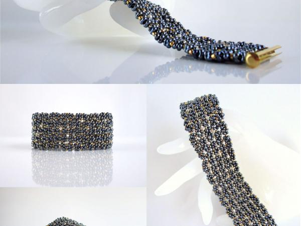 Farfalle stitch was invented for a Preciosa Ornela contest using their beads.