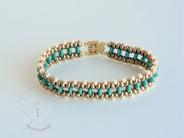 Ayatee, bracelet with lentil beads and twin beads