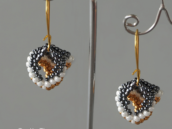 Open Hearts - dangling earrings