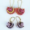 Fandango earrings with Rose Candy beads