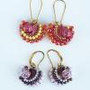 Fandango earrings with Rose Candy beads