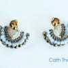 Fandango earrings with firepolished beads