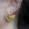 Fandango earrings worn