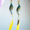 Parrot Earrings with real parrot feathers