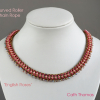 Curved necklace made with Roller Chain Rope