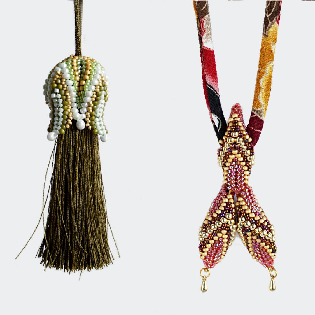 Tulip Tassel & Mermaid Tail - pendant, slide & cord ends
